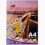 SUN Fancy Photo Paper Glossy 240 Gsm - Cross [Linen] - Kertas Foto / Photo Paper